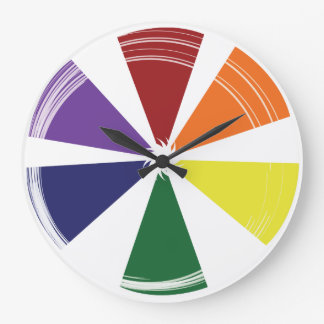 Round (Large) PRIDE COLOR WHEEL Wallclocks