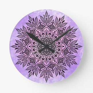 Round (Large) Wall Clock with mandala