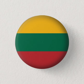 Round Lithuania 3 Cm Round Badge