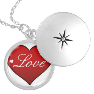 Round Locket Necklace For Love