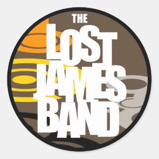 Round Lost James Band Sticker