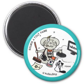 """Round Magnet """"Mouse with to do everything """""""