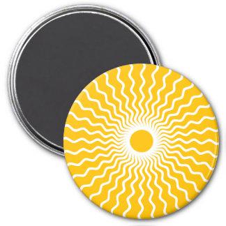 Round Magnet Sun Yello