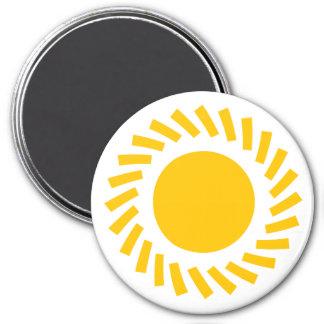Round Magnet Sun Yello Standard, 2¼ Inch