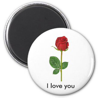 Round magnet with rose