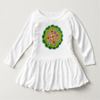 Round Mandala Toddler Ruffle Dress