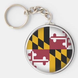 Round Maryland Key Ring