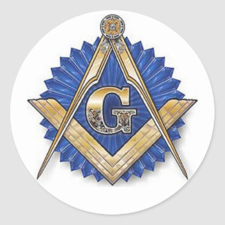 Round Masonic Sticker