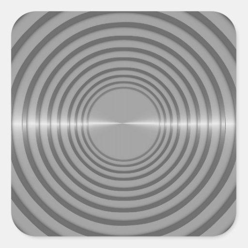 Round Metal Slats Background Image Sticker