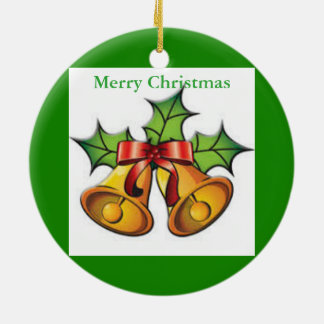 Round mistletoe Christmas ornament