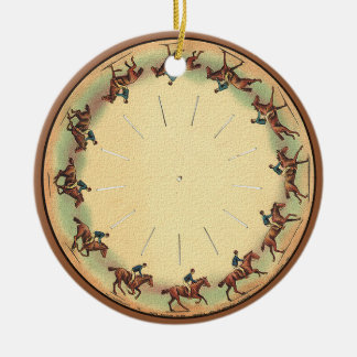 Round of Cantering Horse Double-Sided Ceramic Round Christmas Ornament