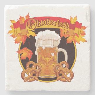 Round Oktoberfest Celebration Design Stone Coaster
