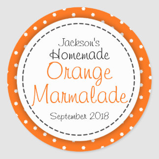Round Orange Marmalade jam jar food label