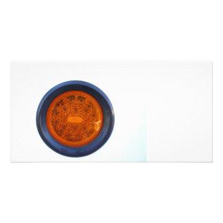 round orange taillight auto part photo card