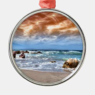 Round Ornament beach scene