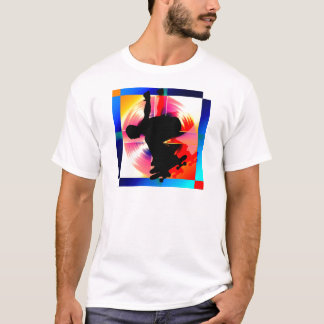Round Peg in a Square Hole Skateboarding T-Shirt