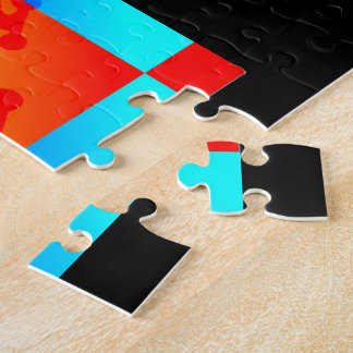 Round Peg in Square Hole Skateboarder Puzzle