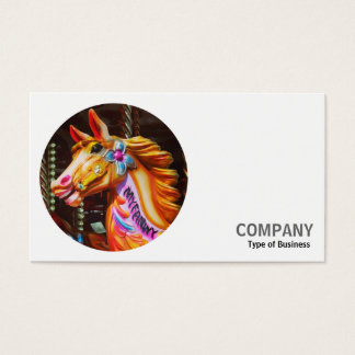 Round Photo - Merry-Go-Round Horse Business Card