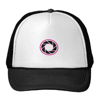 Round Photographic icon Mesh Hats