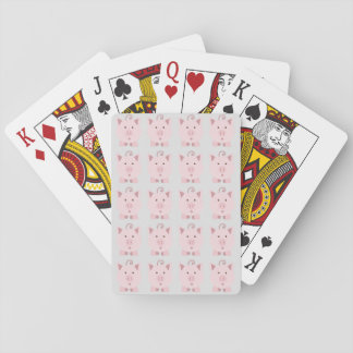 Round Pink Pig Pattern Playing Cards