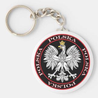 Round Polska Eagle Keychains