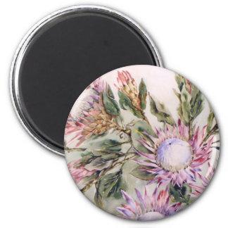 Round Protea Magnet