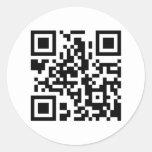 Round QR Code Sticker