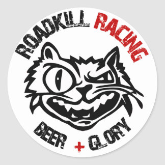 Round Roadkill Racing Stickers