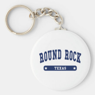 Round Rock Texas College Style tee shirts Keychain