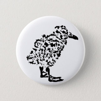 Round Seagull Chick Badge