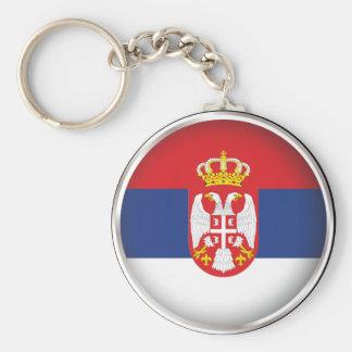 Round Serbia Key Ring