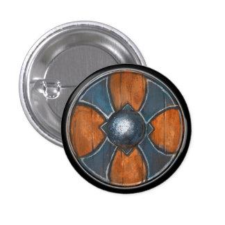Round Shield Button - Blue Cross Emblem