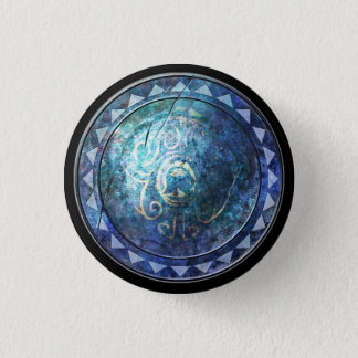 Round Shield Button - Blue Sun Emblem