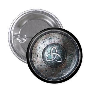 Round Shield Button - Triquetra Emblem
