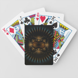Round Shield Fractal Design Bicycle Playing Cards