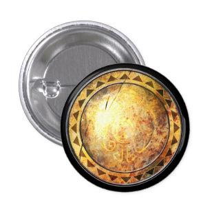 Round Shield - Golden Sun Emblem 3 Cm Round Badge