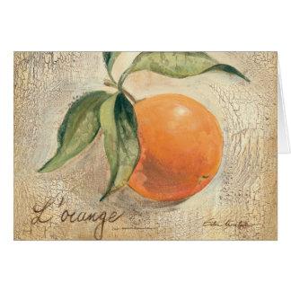 Round Shiny Orange Fruit Card