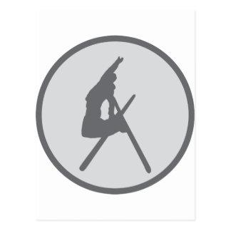 round ski jump icon post card