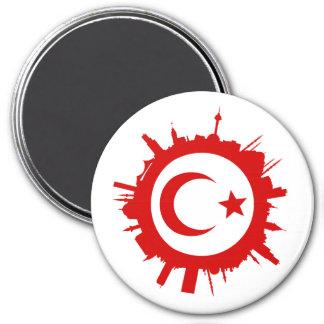 round skyline Istanbul 7.5 Cm Round Magnet