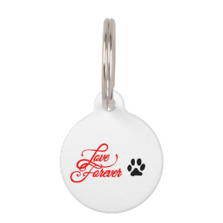 Round Small Pet Tag love forever