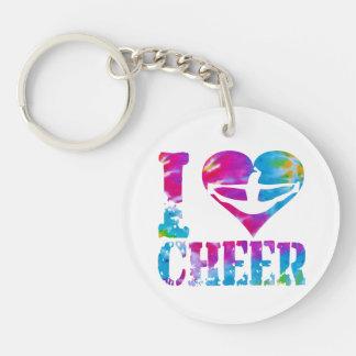 Round Square Acrylic Dance Cheer Gymnast Keychain