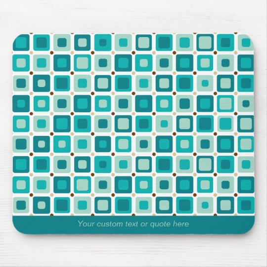 Round Square Pattern Mousepad