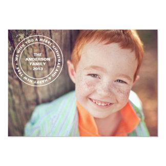ROUND STAMP | HOLIDAY PHOTO CARD 13 CM X 18 CM INVITATION CARD