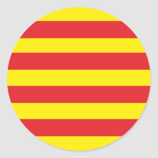 "Round sticker Catalan Flag ""Serenya """