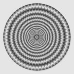Round Sticker  Explosion in Silver
