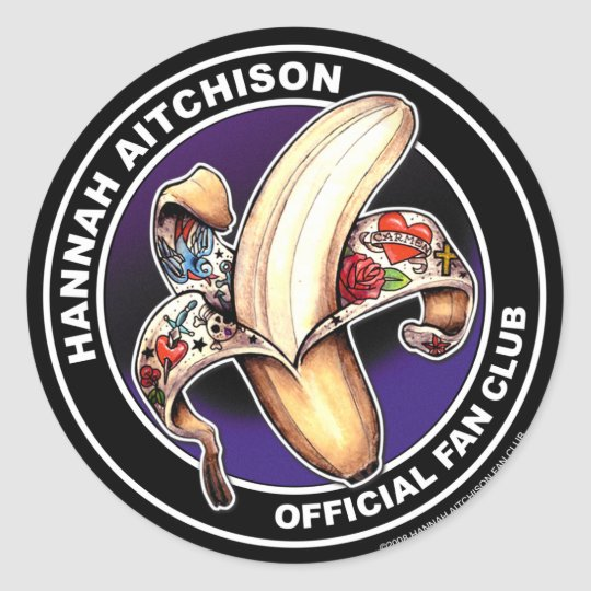Round Sticker - Hannah Aitchison Fan Club Logo