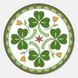 Round Sticker - Irish Good Luck Hex