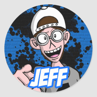 Round Sticker Jeff