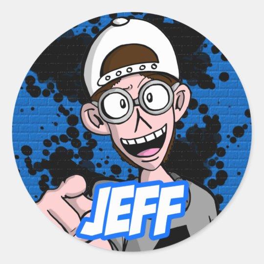 Round Sticker Jeff