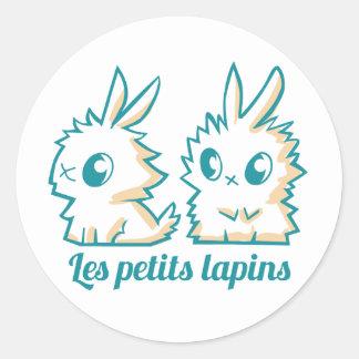 Round Sticker small rabbits